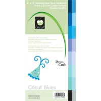 Cricut 12x6 Cardstock Blues Item 40-1626